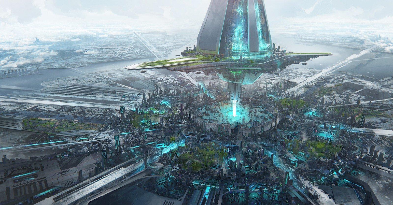 27 честных иллюстраций, которые показывают как могут выглядеть города будущего Города будущего, будущее, иллюстрации, мир, технологии