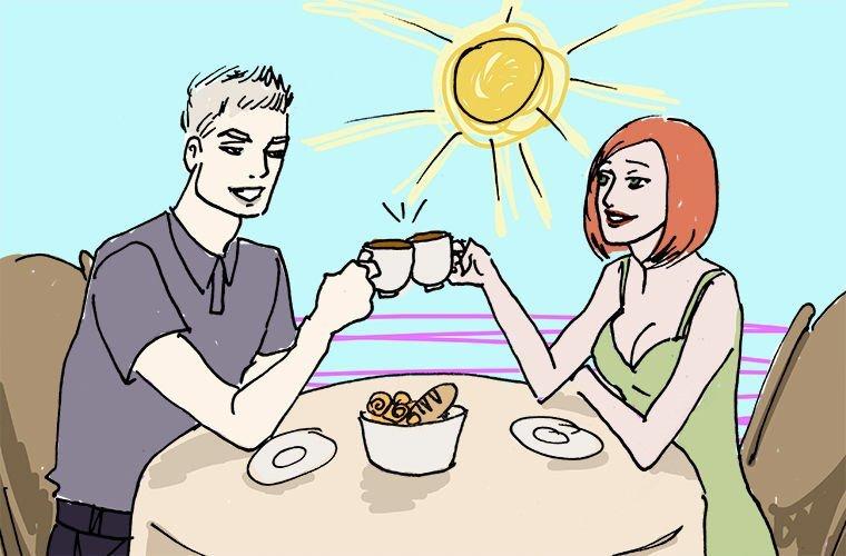 Горячий чай в мире, забавно, иностранцы, лето, люди, мнение