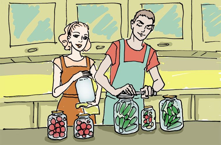 Домашние заготовки в мире, забавно, иностранцы, лето, люди, мнение