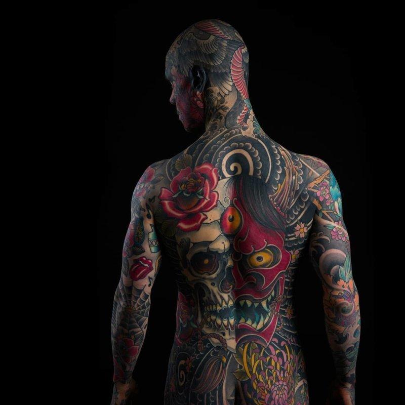 Учитель начальных классов покрыл все тело и лицо татуировками в мире, внешность, люди, тату, татуировка, тело, учитель
