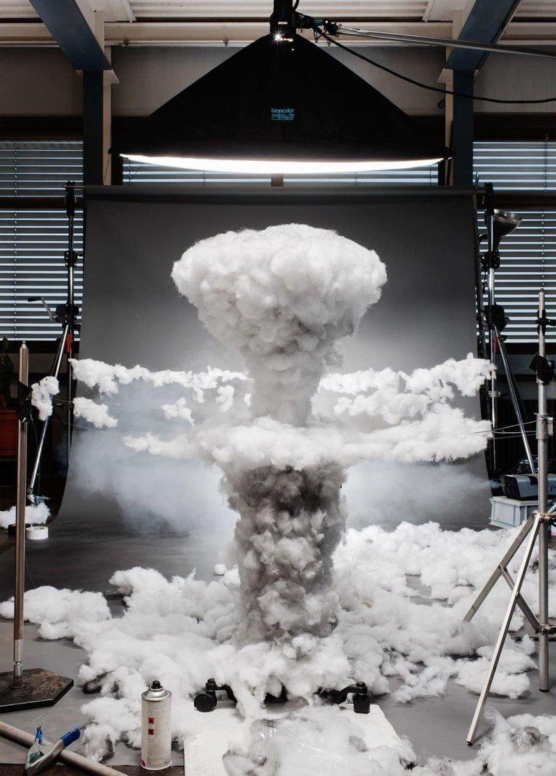 Атомный взрыв над Хиросимой искусство, исторические фото, красота, миниатюра, своими руками, художники