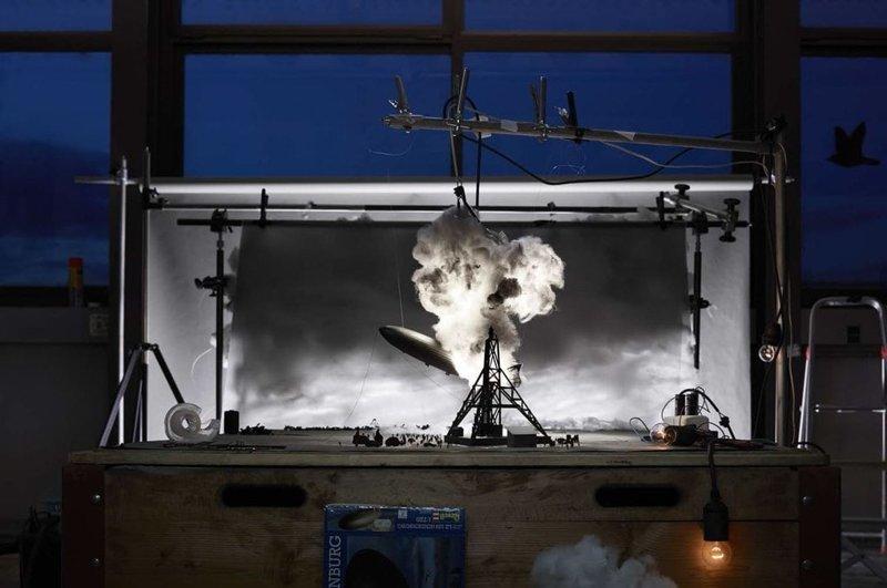 Крушение дирижабля «Гинденбург» искусство, исторические фото, красота, миниатюра, своими руками, художники