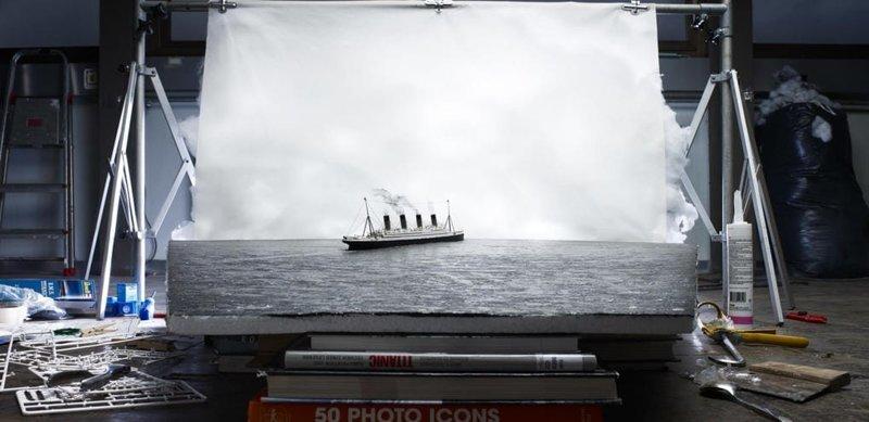 Последняя фотография Титаника искусство, исторические фото, красота, миниатюра, своими руками, художники
