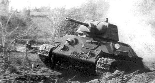 Как советский танк Т -34 сбил немецкий самолет СССР, военное, истории, ностальгия, факты