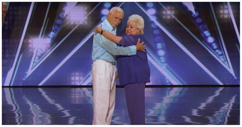 Пожилая супружеская пара устроила грязные танцы на шоу талантов America's Got Talent, видео, реакция, танцы, шоу талантов