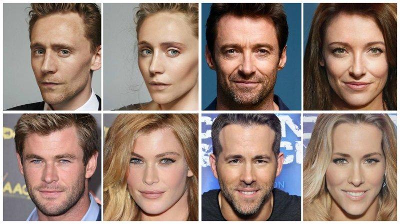 Магия FaceApp: актеры из фильмов Marvel в образе женщин актеры, забава, знаменитости, кино, марвел, превращение, фотошоп, юмор