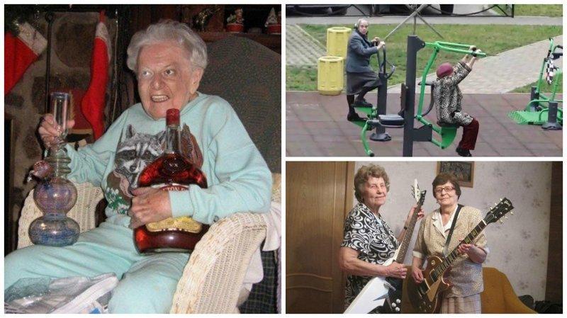 Старость - не радость? Они бы поспорили! Веселые, бабуськи, пенсия, прикол, старость, фото, юмор