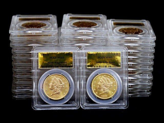 Сегодня каждая из этих монет упакована в прозрачный чехол с сертификатом на золотой фольге, где указан монетный двор (Сан-Франциско), год выпуска и принадлежность к кладу «Saddle Ridge Hoard»  Клады, интересно, история, сокровище