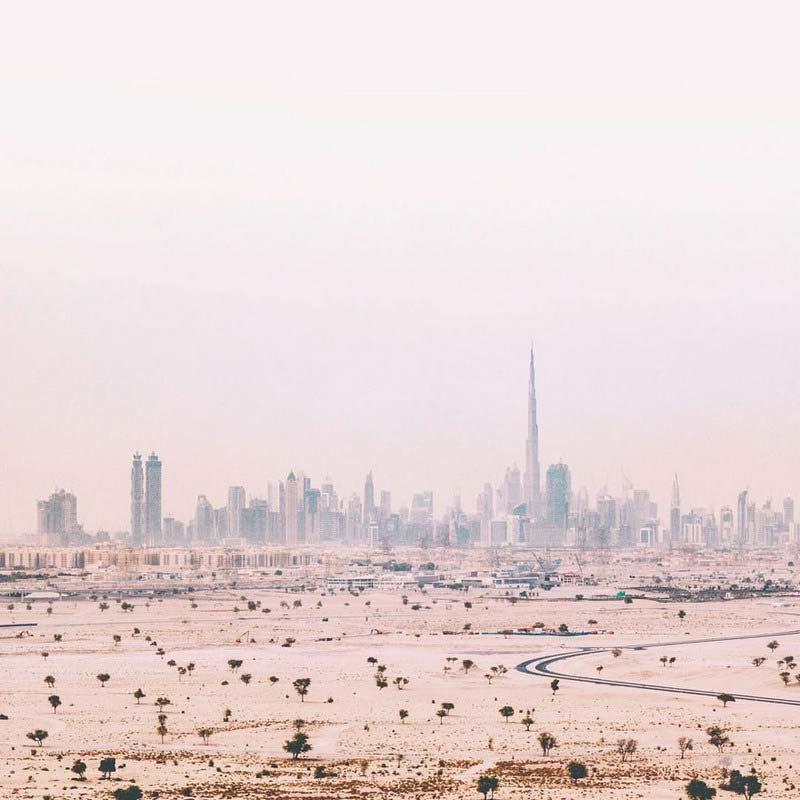15. Город в дымке (Дубай, ОАЭ) абу-даби, в мире, дубай, красота, природа, пустыня, фотограф
