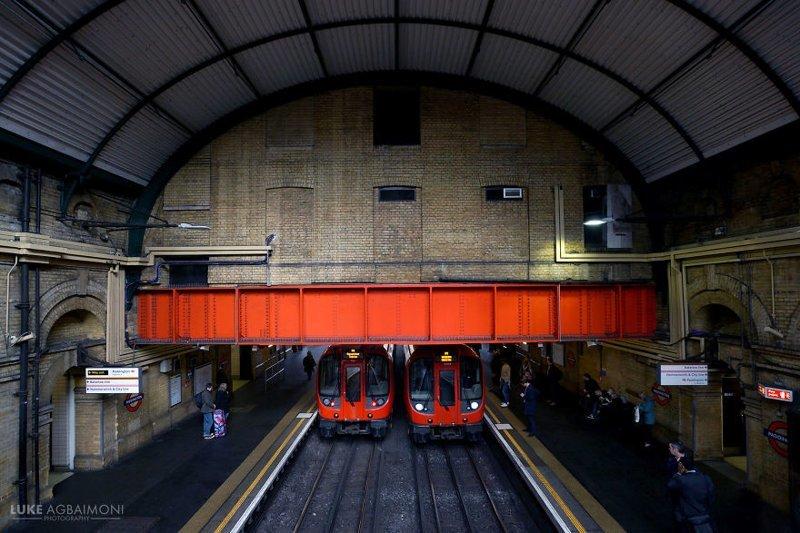 Paddington Station железная  дорога, лондон, метро, подземка, симметрия, станции метро, транспорт, фотопроект