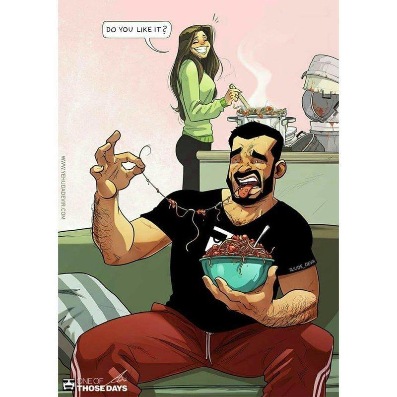 """5. """"Тебе нравится?"""" Иегуда Ади Девир, комиксы, семья, смешные картинки, художник, юмор"""