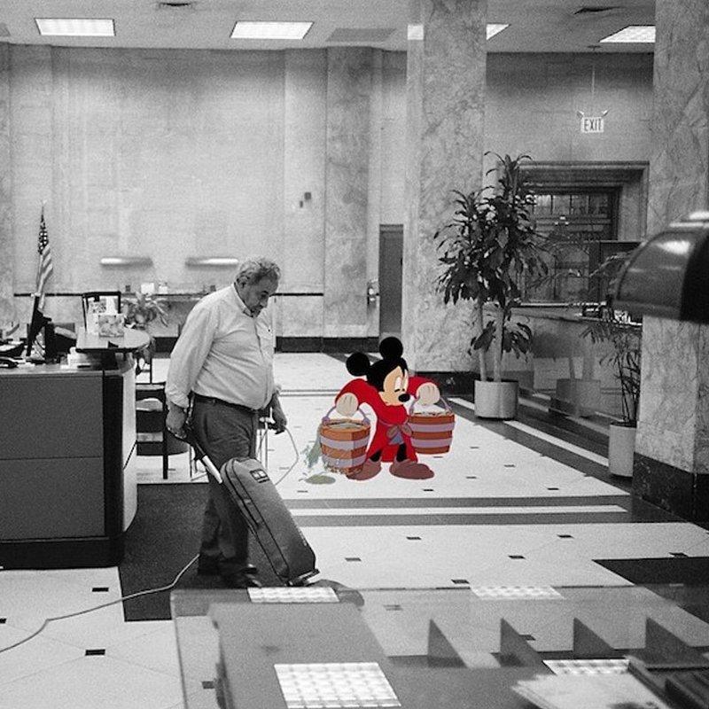 Или Микки Маус, когда-то известный, сегодня начинает все с нуля Harry McNally, гарри макнелли, герои мультфильмов диснея, дисней
