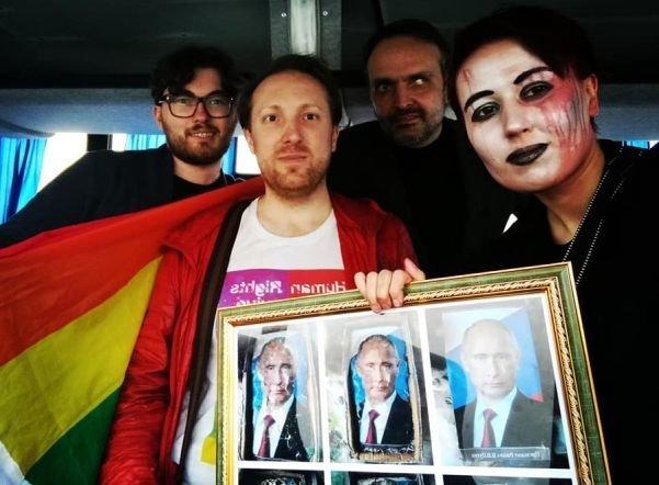 Уничтожение и штраф: вердикт для художницы, создавшей портрет Путина ynews, активисты, вердикт, новости, первомайское шествие, суд
