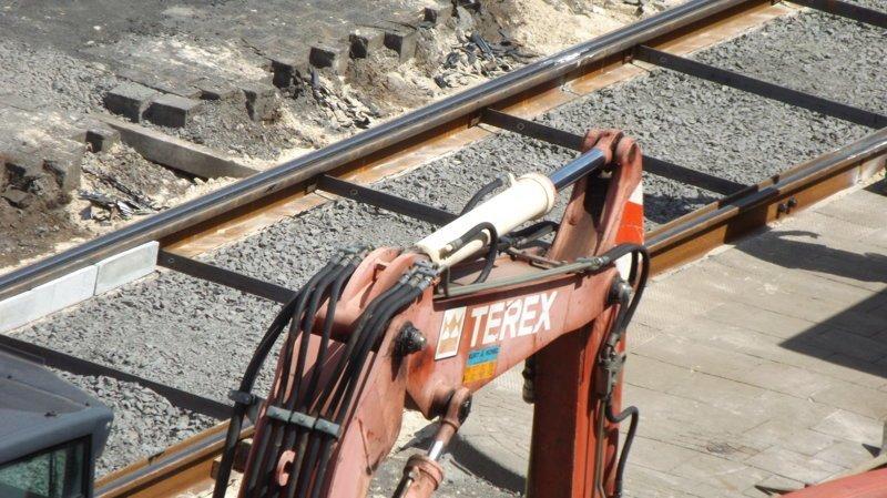 Как укладывают трамвайные рельсы в Германии, без шпал РЕЛЬС, без, трамвайных, укладка, шпалы