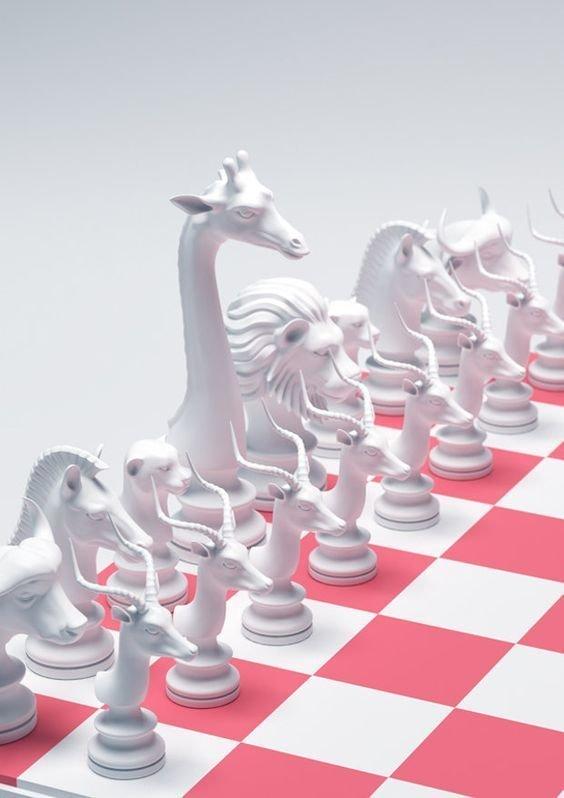 """Шахматы """"Животные"""" искусство, красота, мастерство, невероятное, талант, шахматы"""