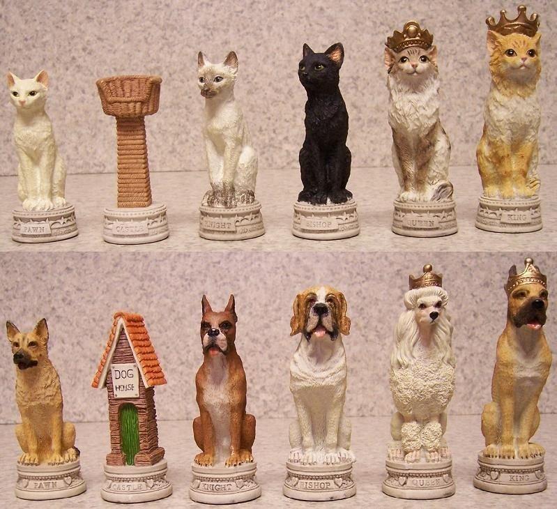 Кошки против собак искусство, красота, мастерство, невероятное, талант, шахматы