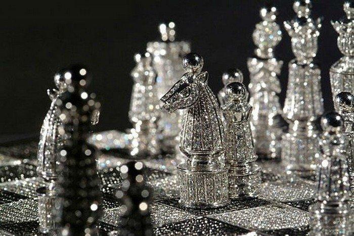 Королевский бриллиантовый комплект шахмат: $600000 искусство, красота, мастерство, невероятное, талант, шахматы