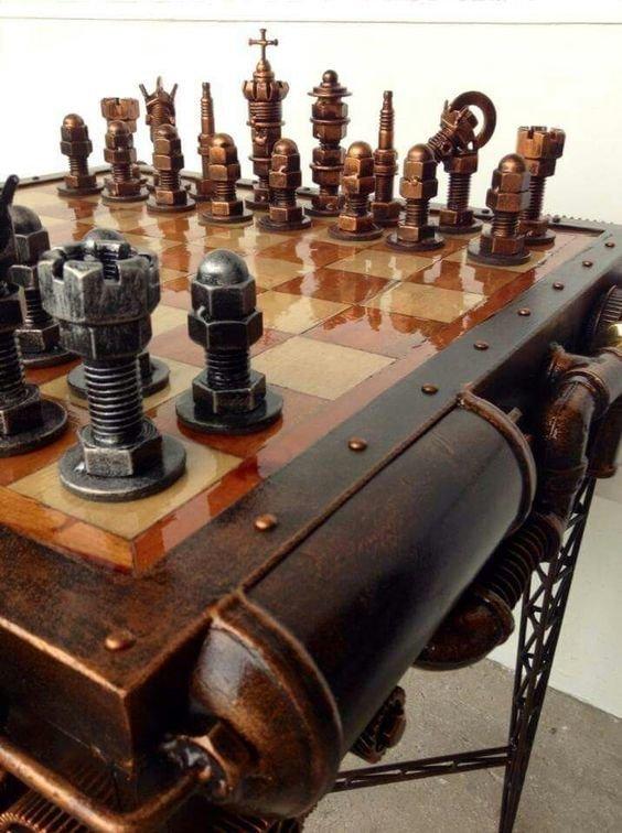 В стиле стимпанк искусство, красота, мастерство, невероятное, талант, шахматы