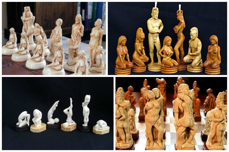 Эротические искусство, красота, мастерство, невероятное, талант, шахматы