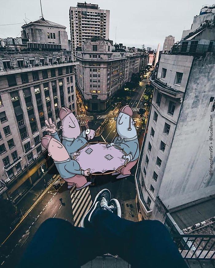 Бразильский художник вторгается в реальность своими фантазиями Лукас Левитан, живопись, искусство, сказочная реальность, творчество, фантазия, фотограия, художник