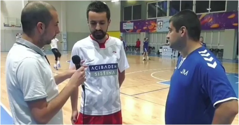 Интервью спортивного журналиста пошло не по плану видео, журналист, македония, мяч, неудача, прикол, фейл, футбол
