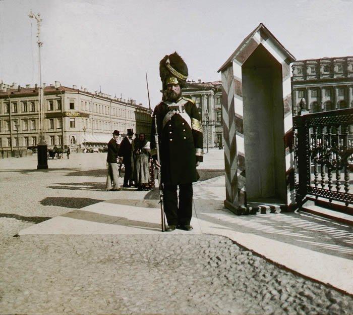 Постовой. Санкт-Петербург, 1896 г. история, прошлое, фото