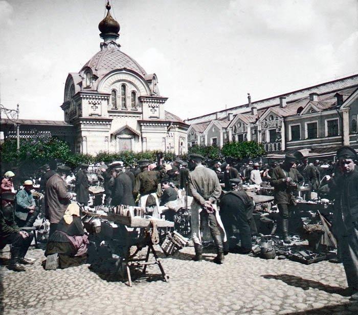 На рынке. Санкт-Петербург, 1896 г. история, прошлое, фото