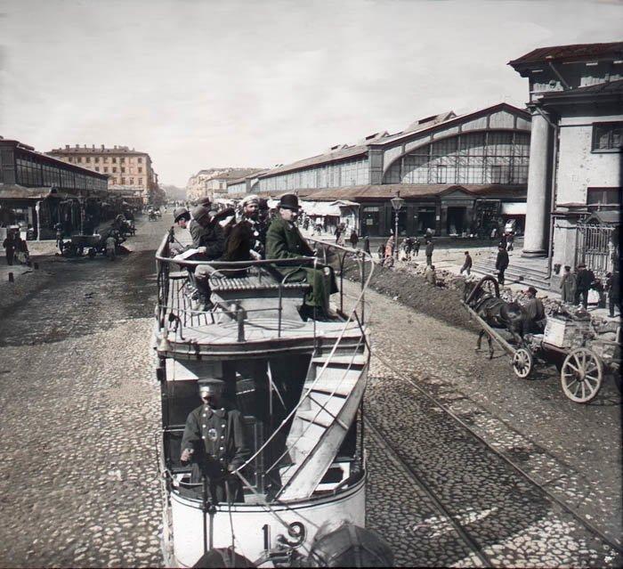 Сенная площадь. Санкт-Петербург, 1896 г. история, прошлое, фото