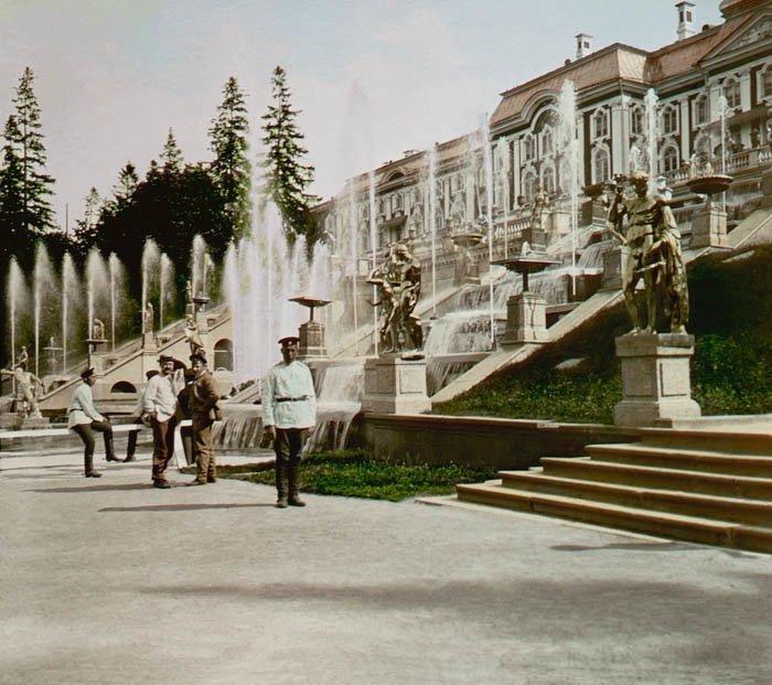 Каскады Петергофа. 1896 г. история, прошлое, фото