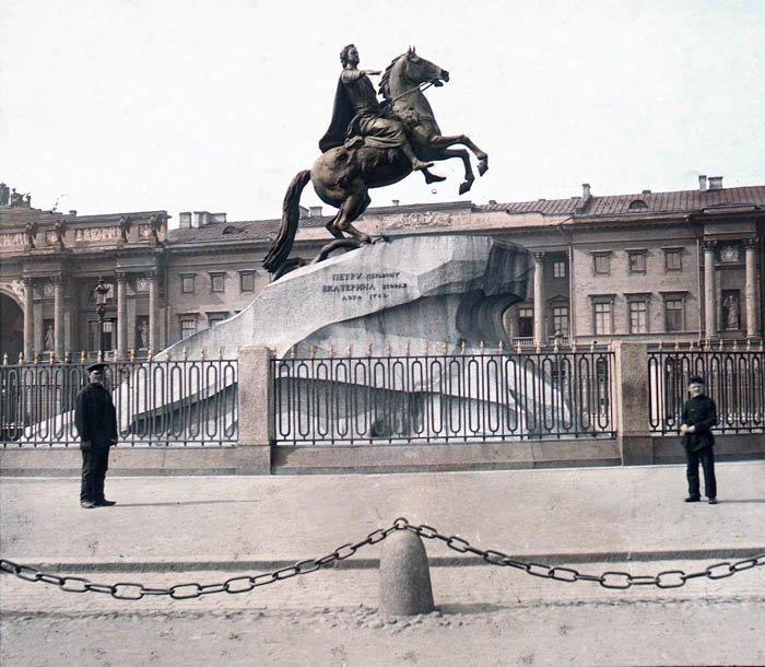 Памятник Петру Великому. Санкт-Петербург, 1896 г. история, прошлое, фото