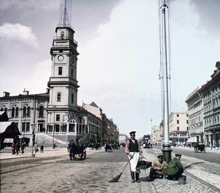 Невский проспект. Санкт-Петербург, 1896 г. история, прошлое, фото
