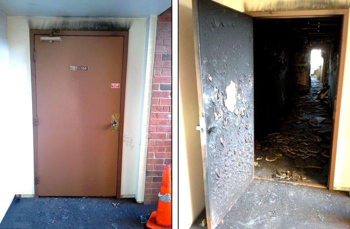 Противопожарная дверь Забавные фото, истории, юмор