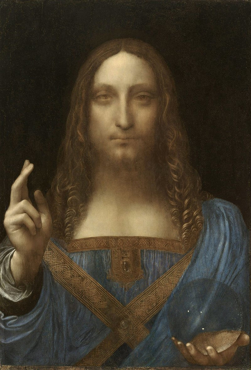 Самое ценное из когда-либо проданных произведений искусства -  картина Леонардо да Винчи «Спаситель мира», которую купил Департамент по культуре и туризму эмирата Абу-Даби - 450 300 000 долларов интересное, мир, факты, цифры