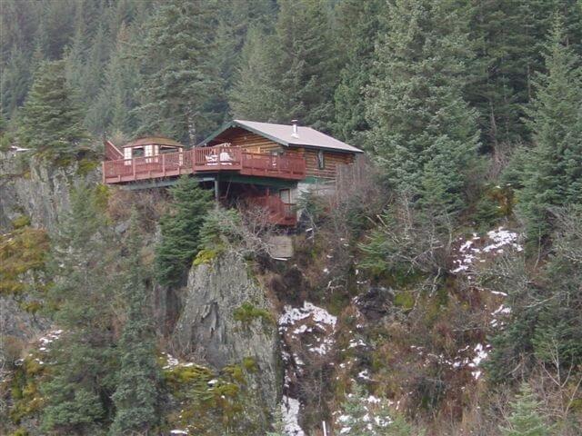 Аляска дом, интересное, красиво, обрыв, строения