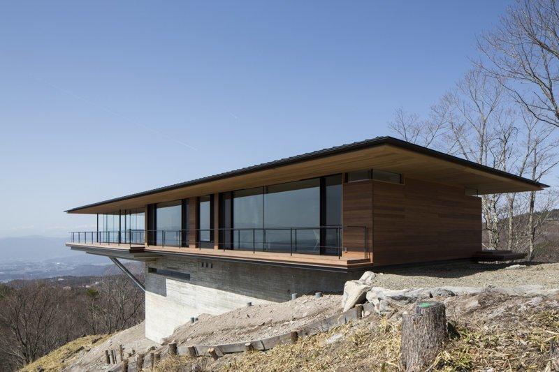 Еще один дом, но уже в Японии дом, интересное, красиво, обрыв, строения