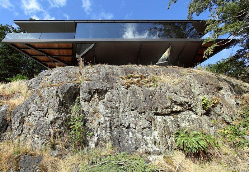 Британская Колумбия -  дом над обрывом называется Tula дом, интересное, красиво, обрыв, строения