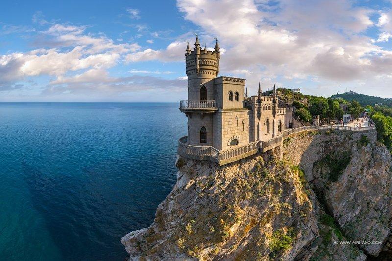 Ласточкино гнездо, Крым дом, интересное, красиво, обрыв, строения