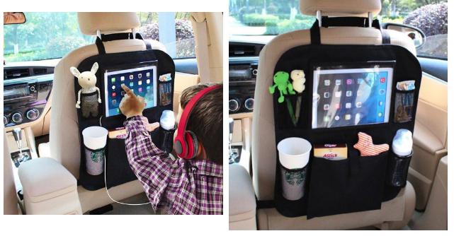 """4. Эпичный по размерам и возможностям """"органайзер"""" для маленьких пассажиров авто, автомобиль, гаджеты, машина"""