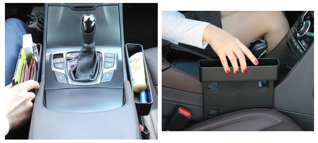 14. Если между сиденьем и консолью у вас есть место, его можно чем-то занять. Чем-то полезным авто, автомобиль, гаджеты, машина
