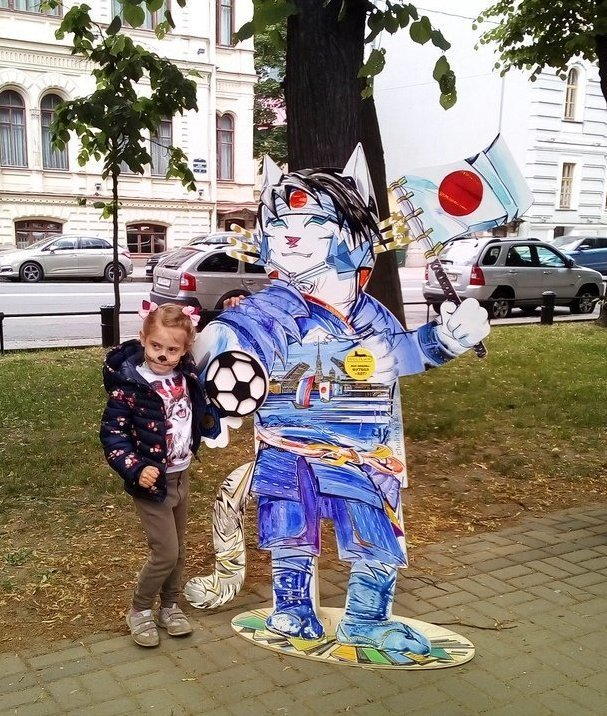 Питер украсили шестиметровым котом, самым большим в Европе ynews, искусство, коты, петербург, футбол, художники, чм-2018