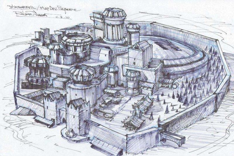 1. Замок Винтерфелл замки, игра престолов, места съемок, пейзажи, сериал, фэнтези