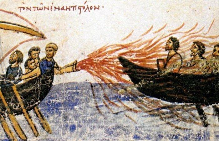 6. Греческий огонь войны, история, оружие