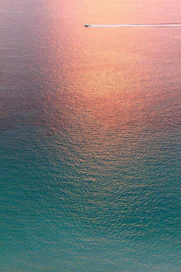Этот вид на океан на закате достоин голливудского шедевра! для перфекционистов, идеальное, интересно, необычно, необычные вещи, перфекционизм, совершенное, совершенство