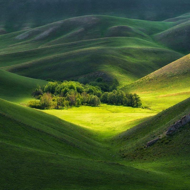 Бархатные склоны Южного Урала, Оренбургская область горы, леса, природа, природа России, российская природа, россия