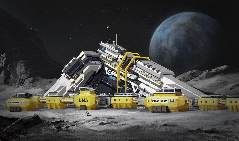мощная очень картинка лунная база раз есть