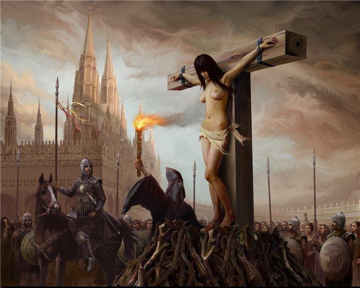Вступила в связь с нехристианином — на костер! женщины, история, общество, средневековье
