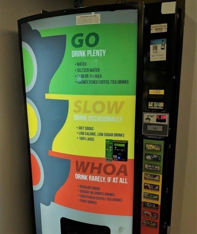 2. Этот ранжирует еду и напитки по степени их калорийности Вендинговые автоматы, С миру по нитке, вендинговый аппарат, вот это да!, до чего техника дошла, познавательно, торговые автоматы, торговый автомат