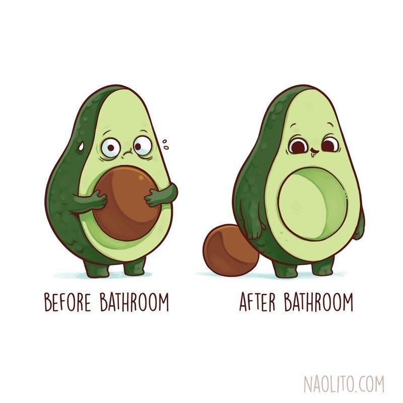 3. До и после похода в туалет  naolito, забавно, иллюстратор, мини-комиксы, начо диаз, художник, юмор