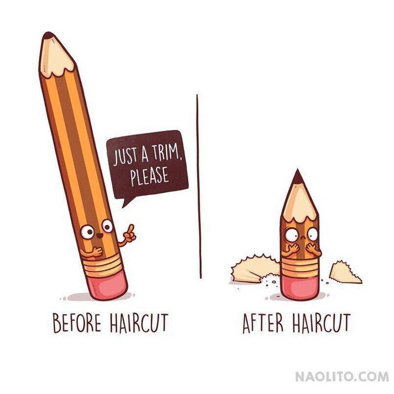 6. До и после стрижки  naolito, забавно, иллюстратор, мини-комиксы, начо диаз, художник, юмор