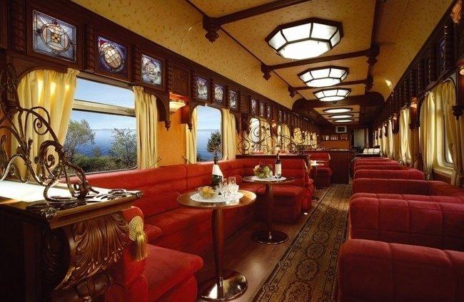 Поезд «The Golden Eagle Express» поезд, роскошная жизнь, роскошь